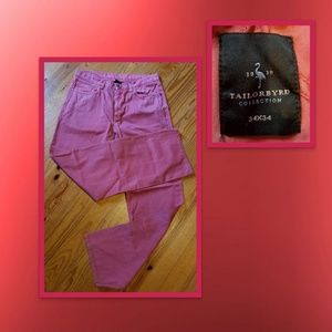 Mens Red Tailorbyrd Relaxed Pants